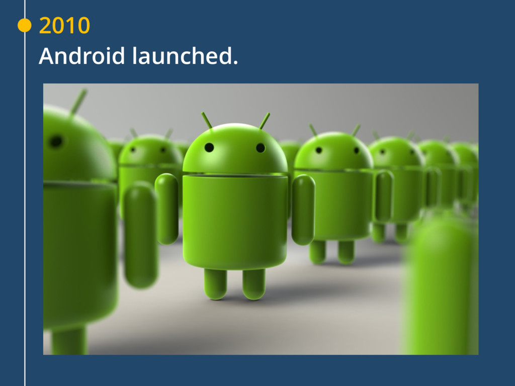 2010 Android launched.
