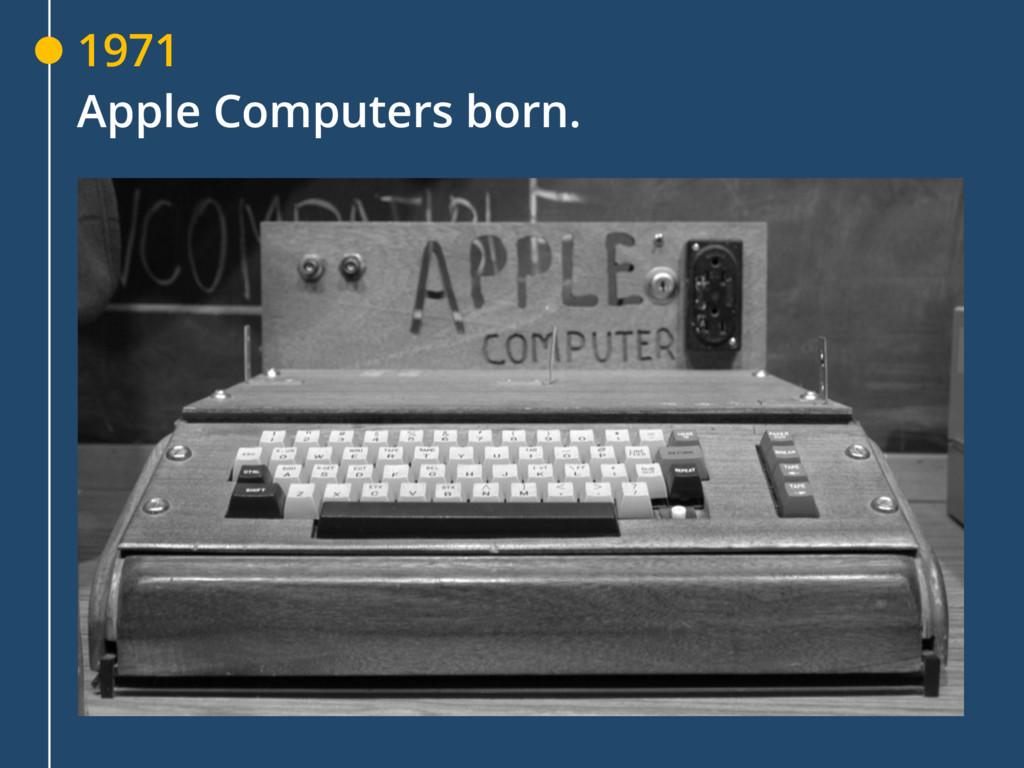 1971 Apple Computers born.