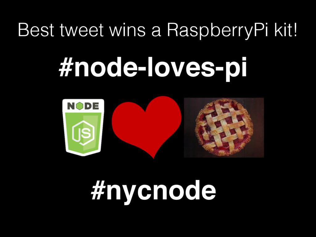 Best tweet wins a RaspberryPi kit! #node-loves-...