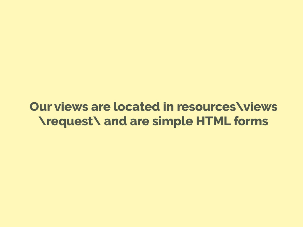 Our views are located in resources\views \reque...