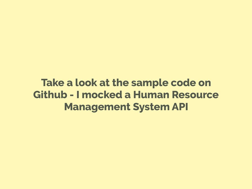 Take a look at the sample code on Github - I mo...