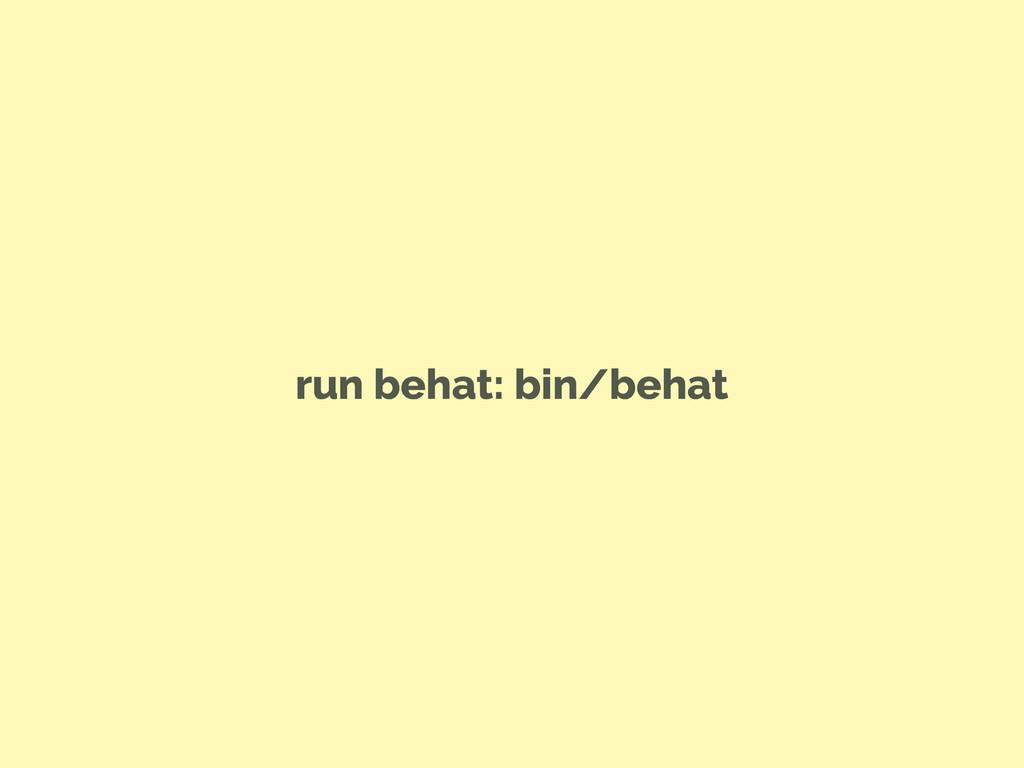 run behat: bin/behat