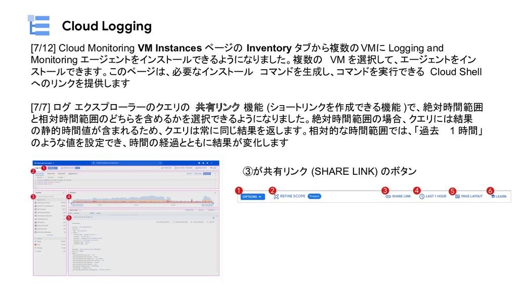 Cloud Logging [7/12] Cloud Monitoring VM Instan...