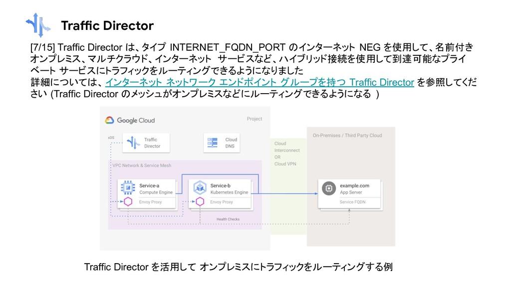 Traffic Director [7/15] Traffic Director は、タイプ ...