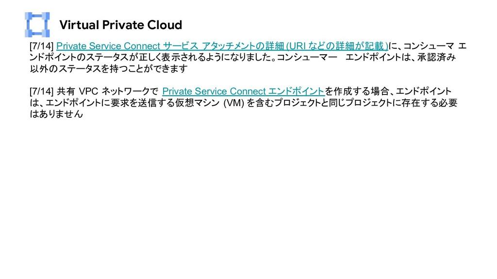Virtual Private Cloud [7/14] Private Service Co...