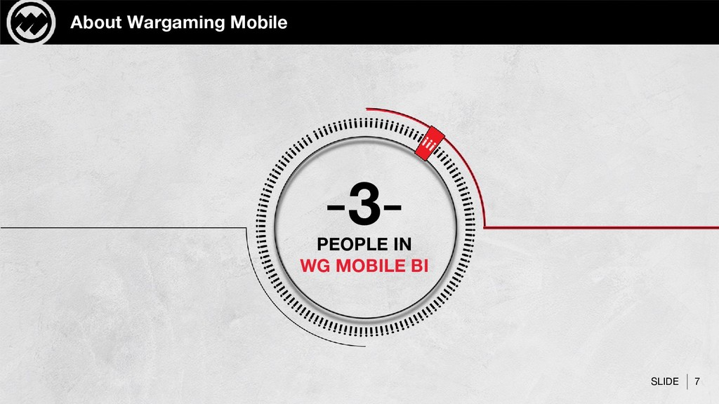 SLIDE 7 About Wargaming Mobile -3- PEOPLE IN WG...