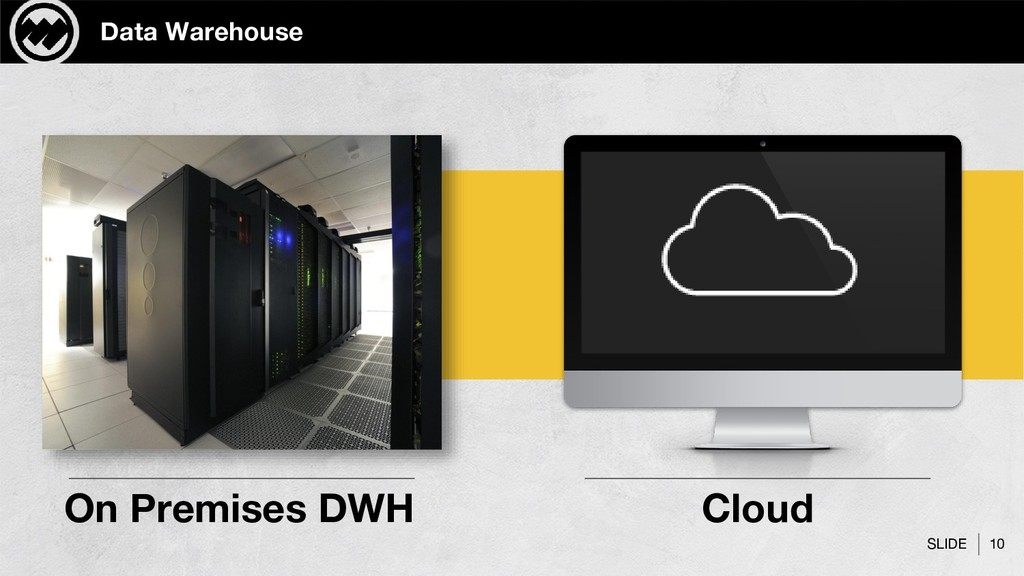 SLIDE 10 Data Warehouse On Premises DWH Cloud