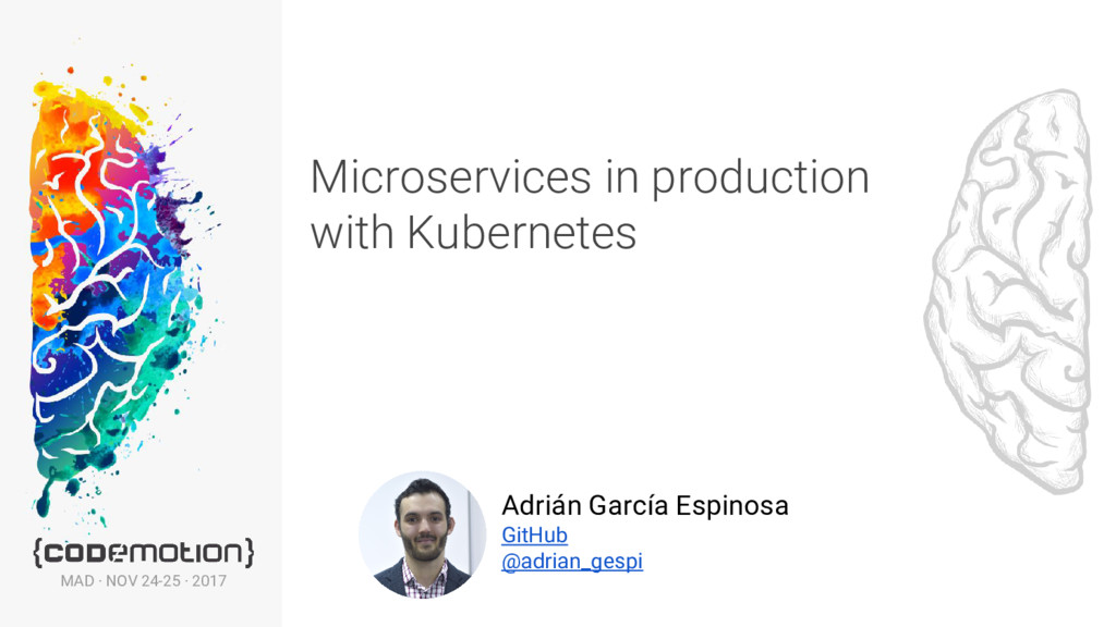 Microservices in production with Kubernetes Adr...