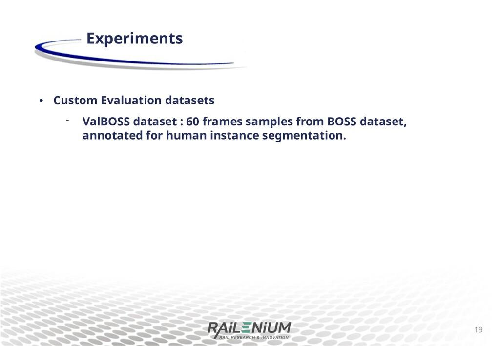 • Custom Evaluation datasets  ValBOSS dataset ...