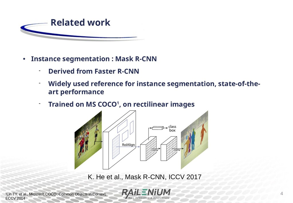 • Instance segmentation : Mask R-CNN  Derived ...