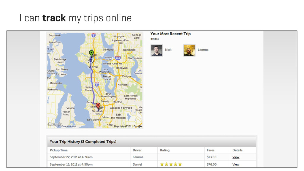 I can track my trips online