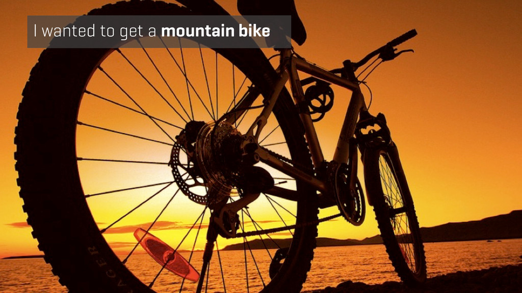 I wanted to get a mountain bike