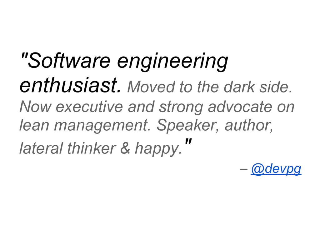 """""""Software engineering enthusiast. Moved to the ..."""