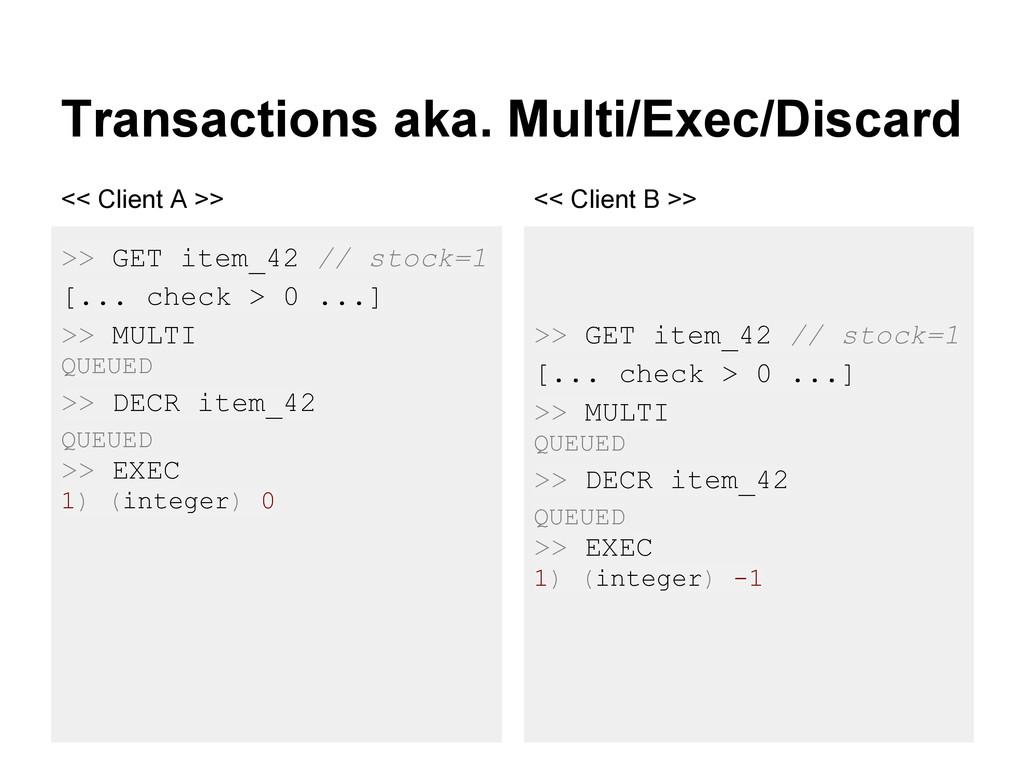 Transactions aka. Multi/Exec/Discard >> GET ite...