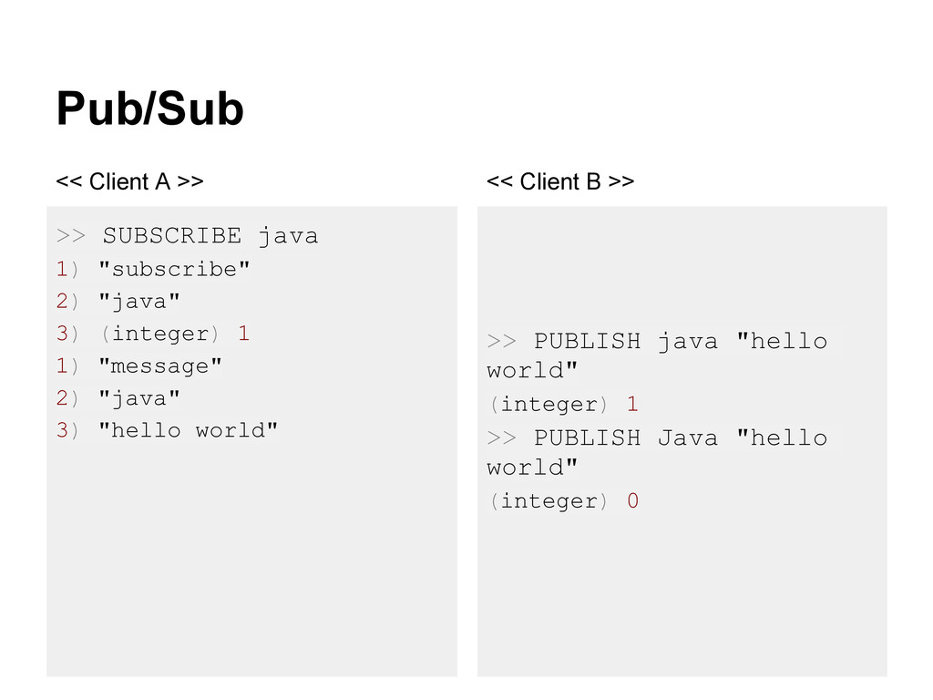 """Pub/Sub >> SUBSCRIBE java 1) """"subscribe"""" 2) """"ja..."""