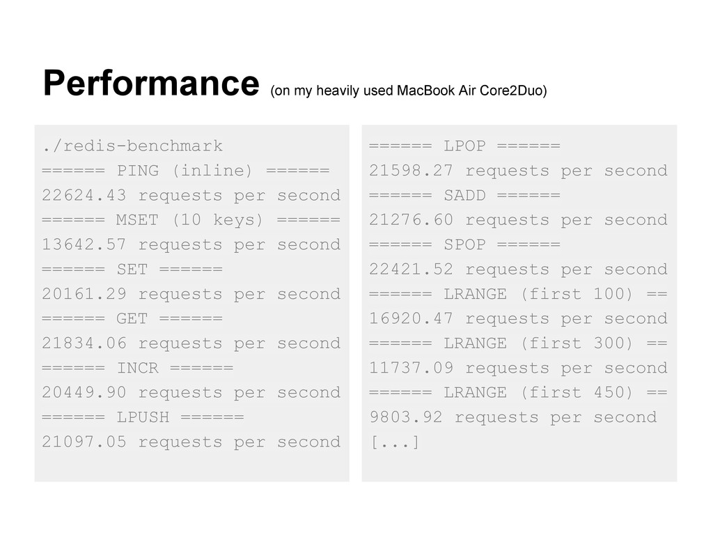 Performance (on my heavily used MacBook Air Cor...