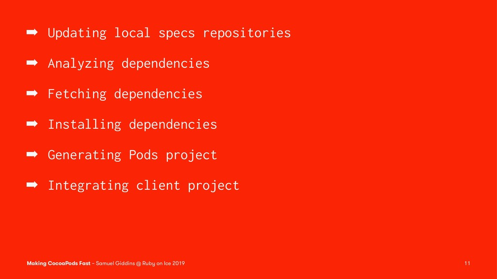 ➡ Updating local specs repositories ➡ Analyzing...