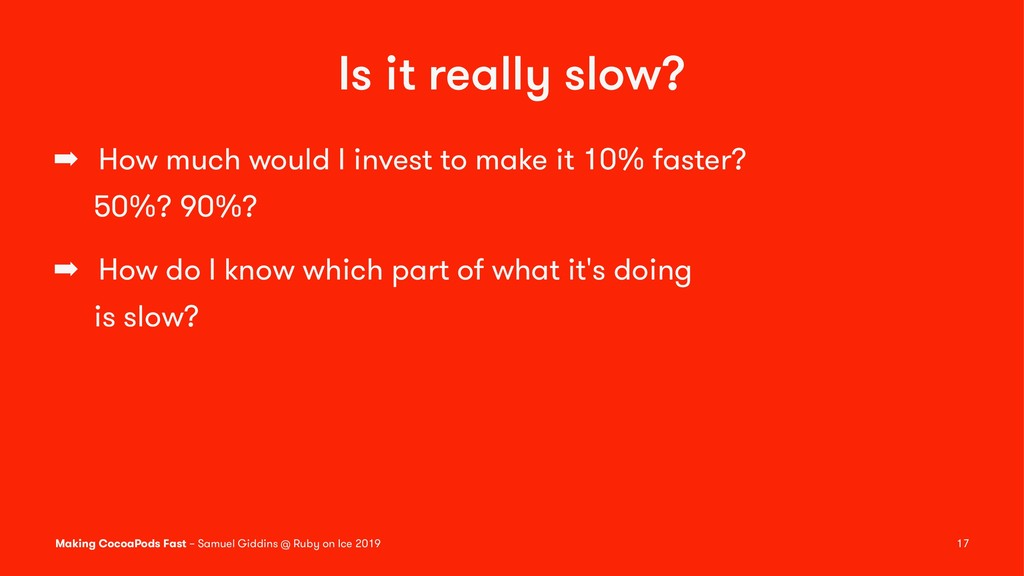 Is it really slow? ➡ How much would I invest to...