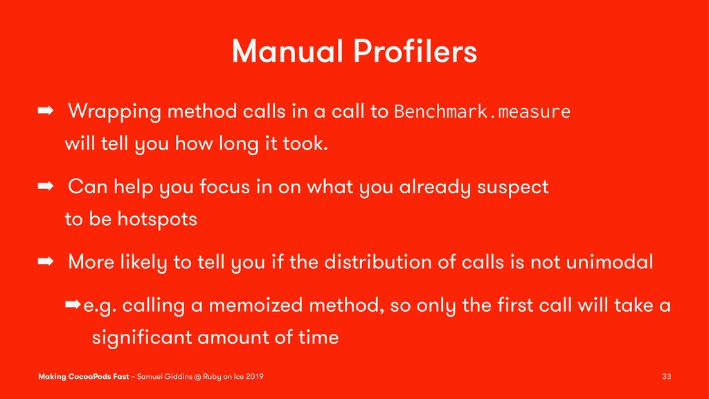 Manual Profilers ➡ Wrapping method calls in a ca...