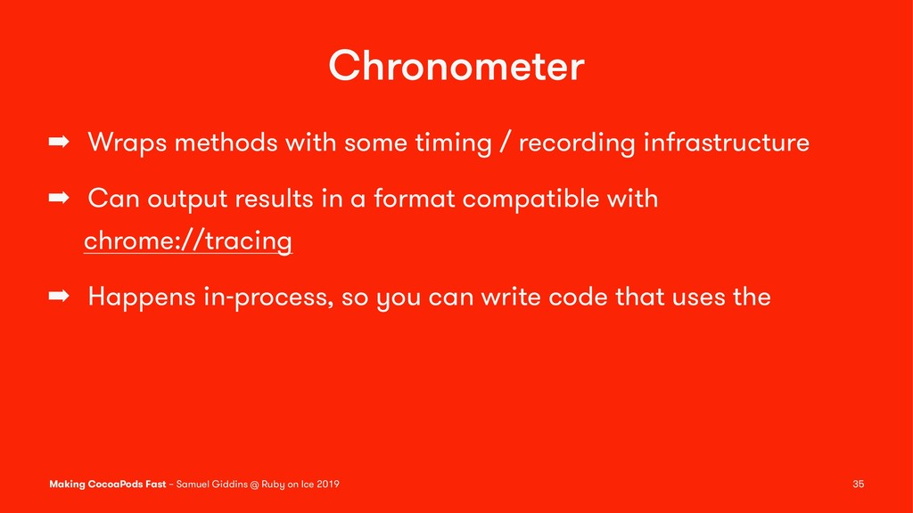 Chronometer ➡ Wraps methods with some timing / ...