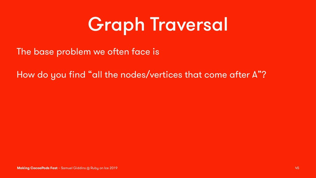 Graph Traversal The base problem we often face ...