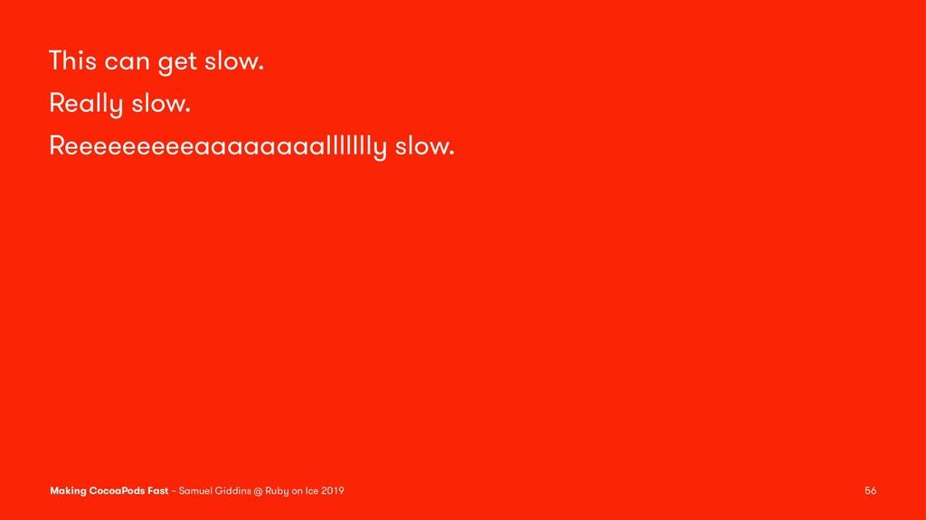 This can get slow. Really slow. Reeeeeeeeeaaaaa...