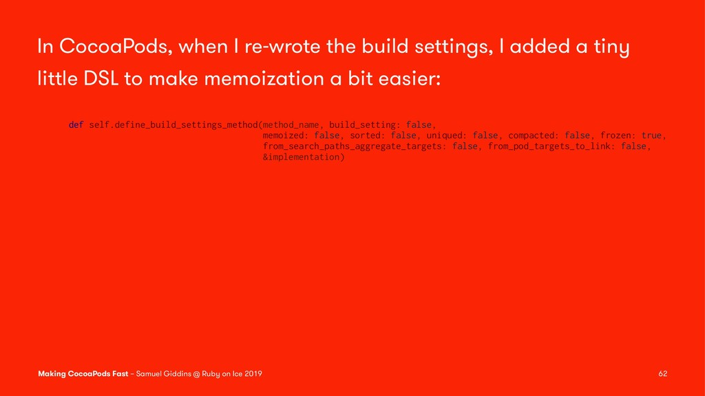 In CocoaPods, when I re-wrote the build setting...