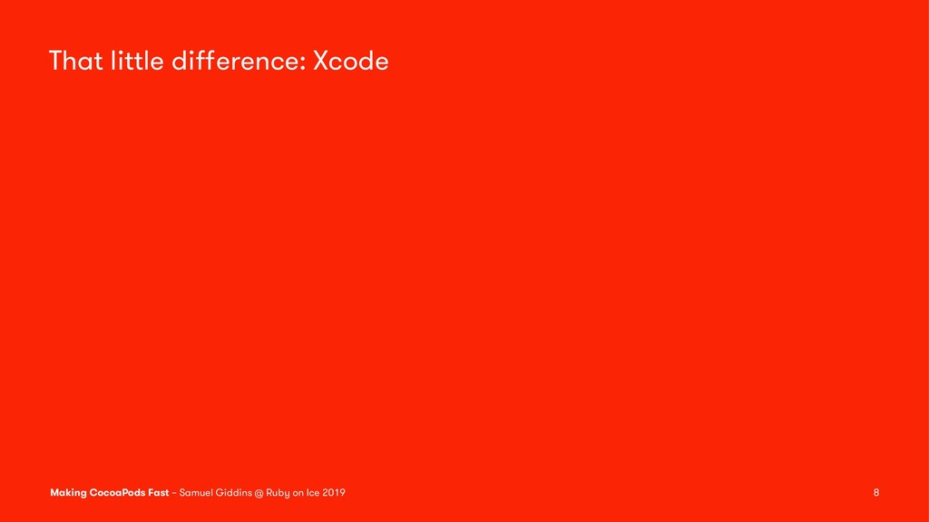 That little difference: Xcode Making CocoaPods F...