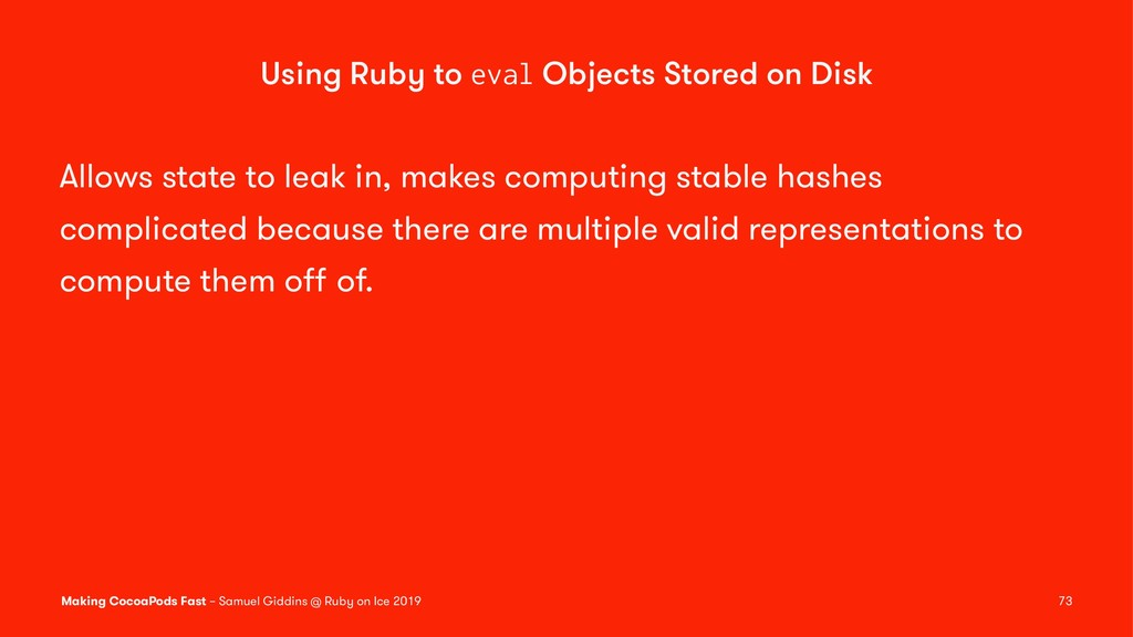 Using Ruby to eval Objects Stored on Disk Allow...