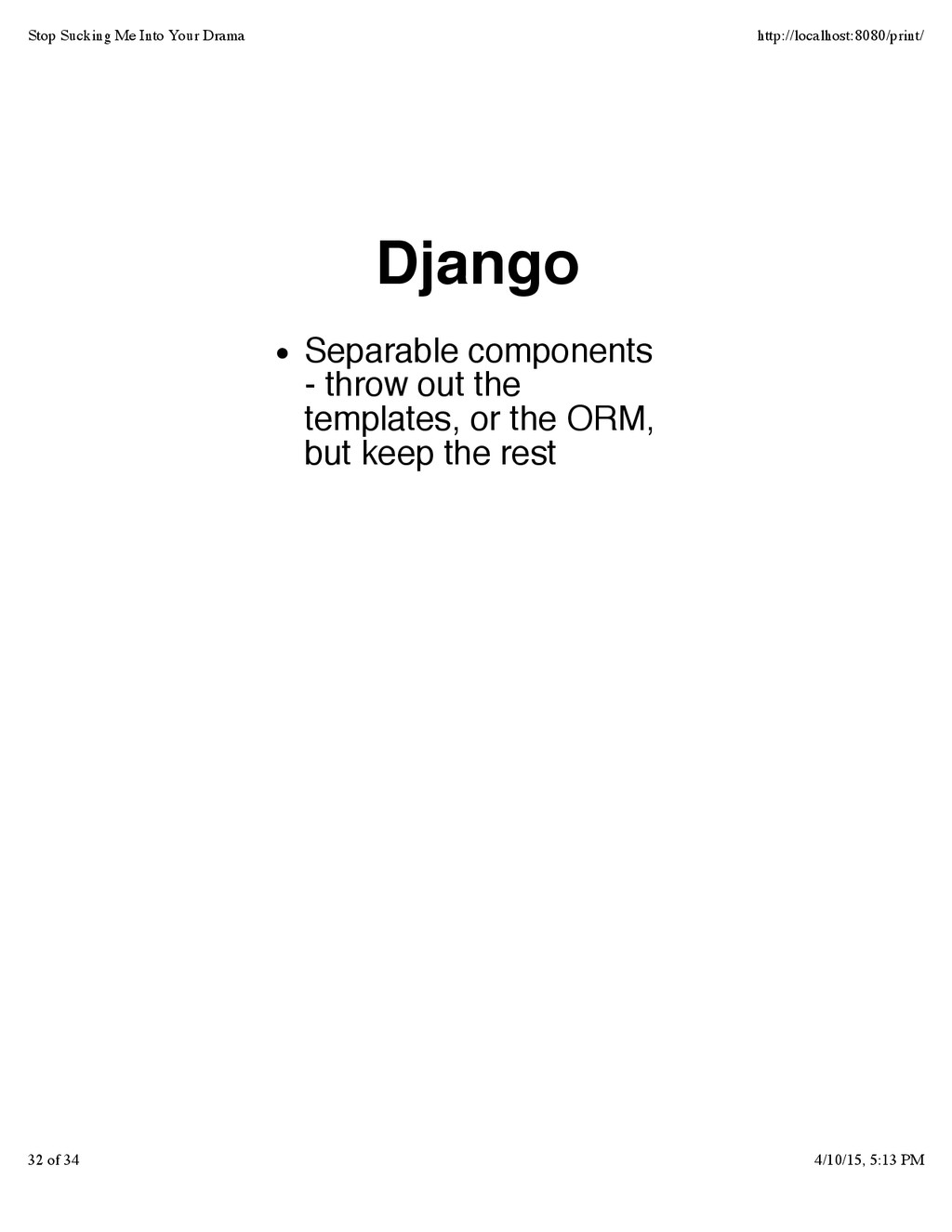 Django Separable components - throw out the tem...