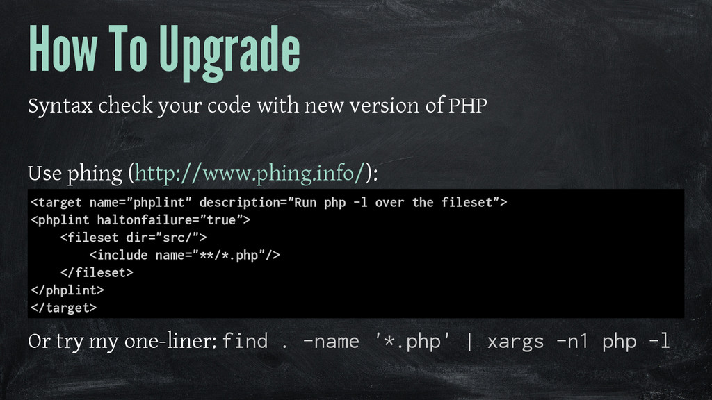 How To Upgrade Syntax check your code with new ...