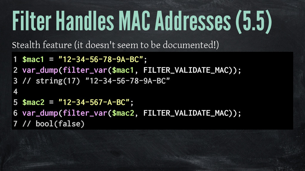 Filter Handles MAC Addresses (5.5) Stealth feat...