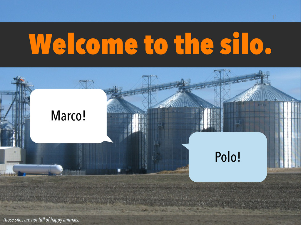Those silos are not full of happy animals. Welc...