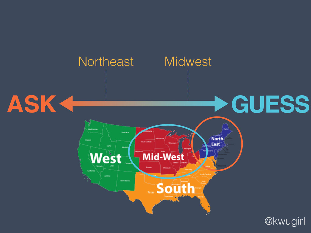 @kwugirl ASK GUESS Northeast Midwest