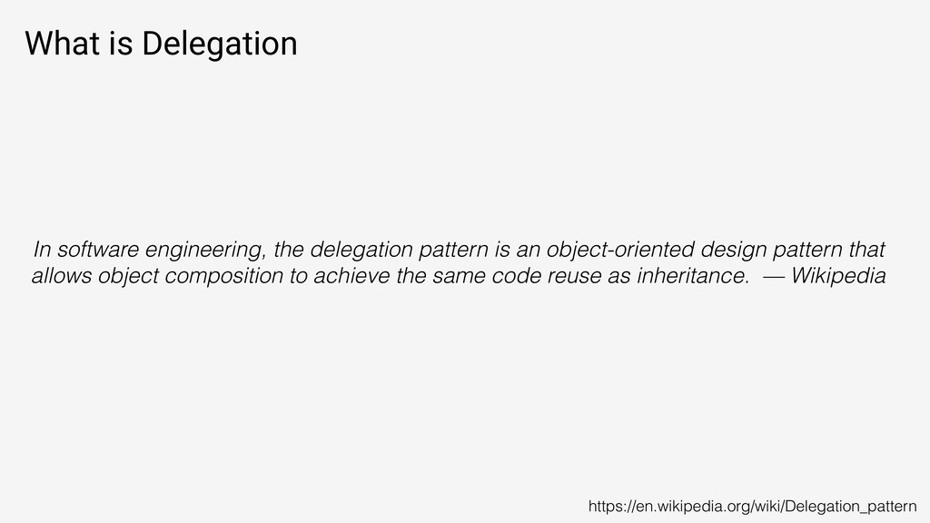 What is Delegation In software engineering, the...