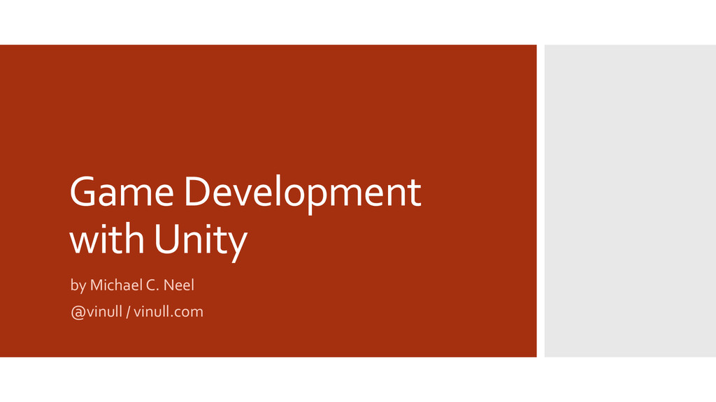 Game Development with Unity by Michael C. Neel ...