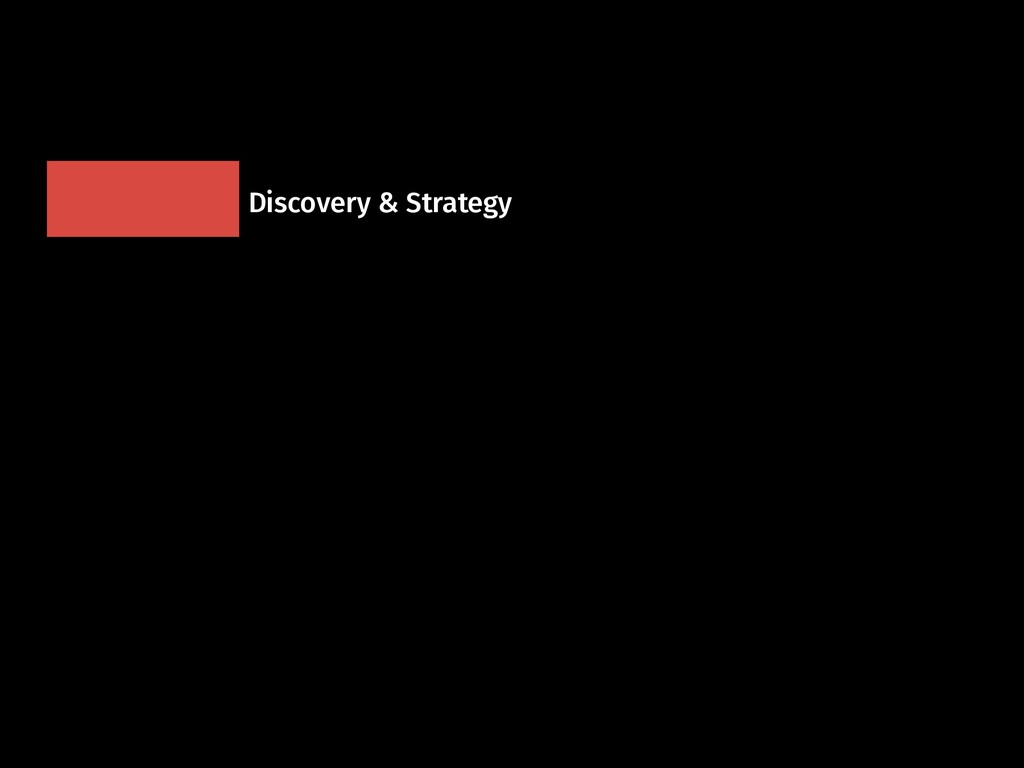 Discovery & Strategy