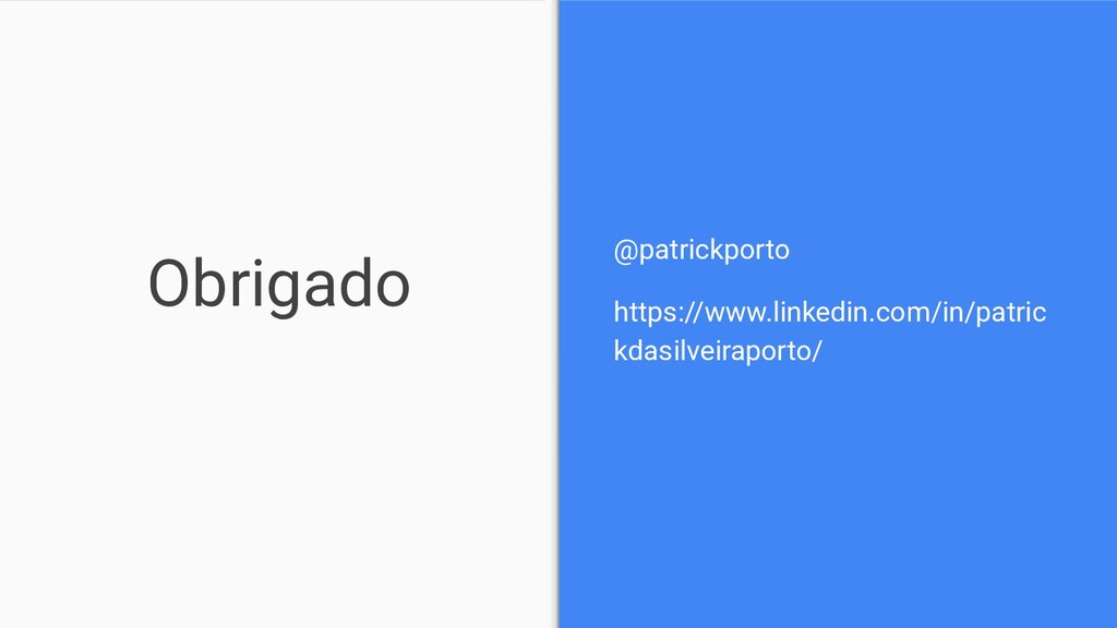 Obrigado @patrickporto https://www.linkedin.com...