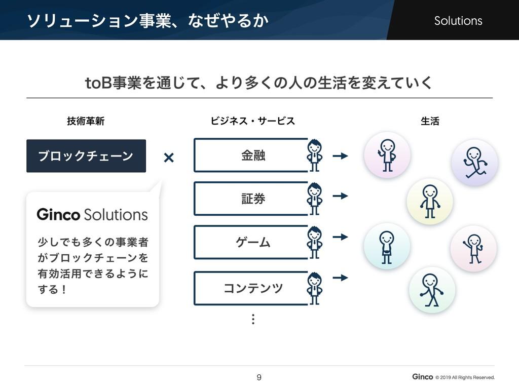 ιϦϡʔγϣϯࣄۀɺͳͥΔ͔ Solutions !9