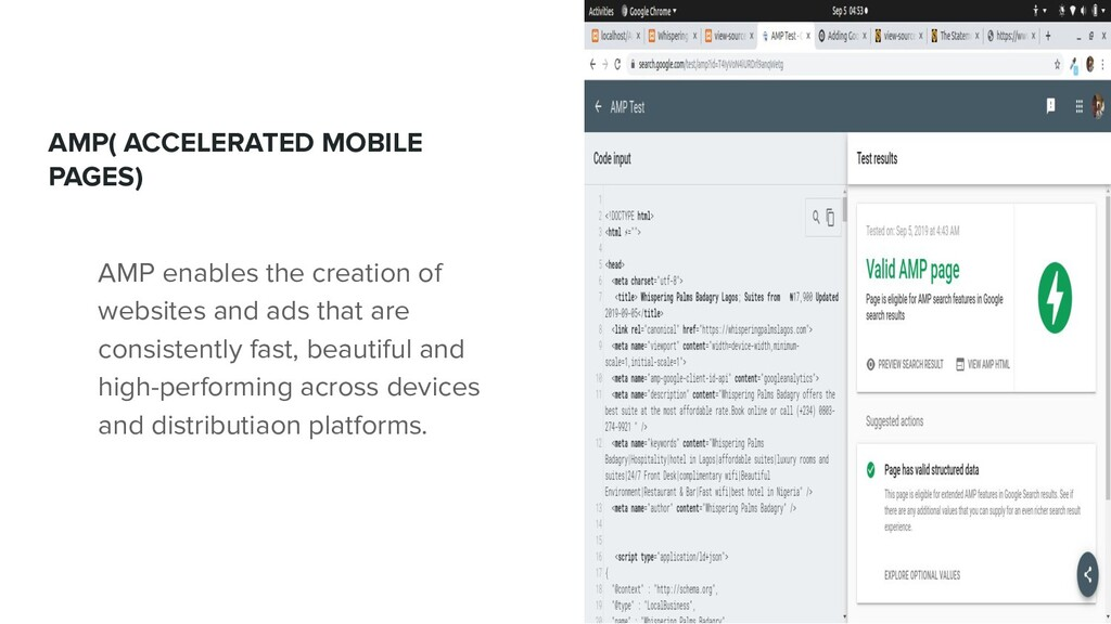AMP( ACCELERATED MOBILE PAGES) AMP enables the ...
