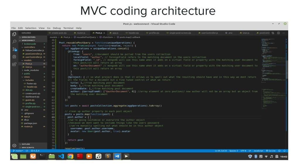 MVC coding architecture