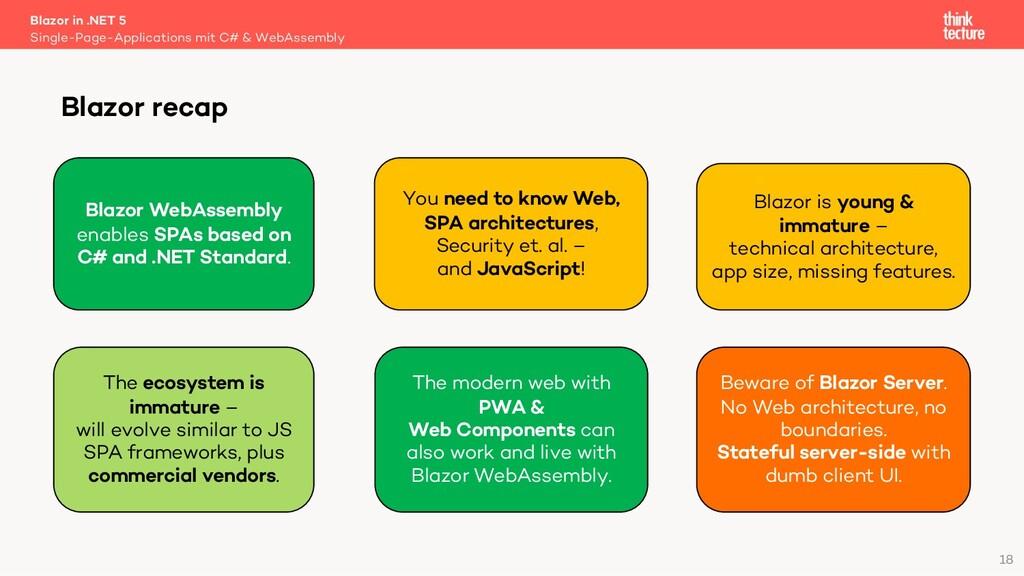 18 Blazor in .NET 5 Single-Page-Applications mi...