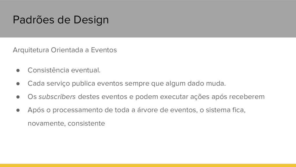 Padrões de Design Arquitetura Orientada a Event...