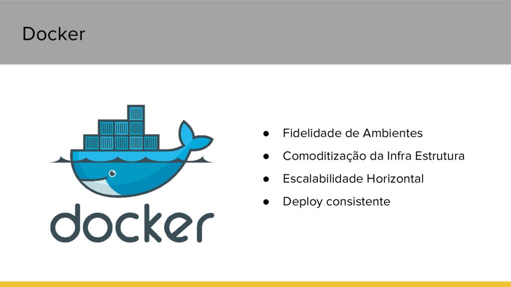 Docker ● Fidelidade de Ambientes ● Comoditizaçã...