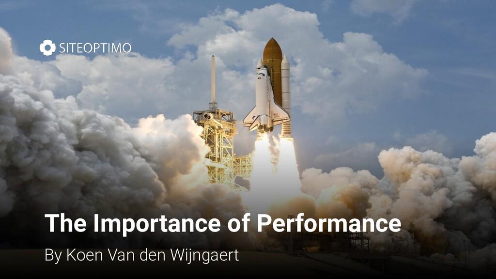 The Importance of Performance By Koen Van den W...