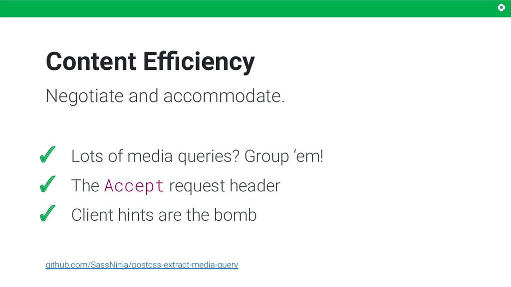 Content Efficiency Negotiate and accommodate. ✓ L...