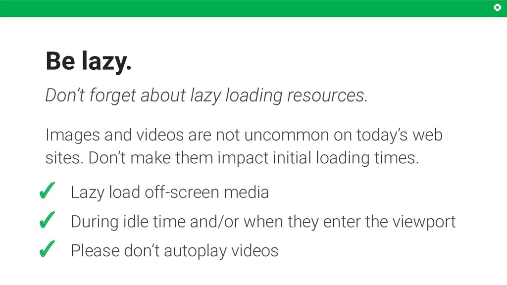 Be lazy. Images and videos are not uncommon on ...