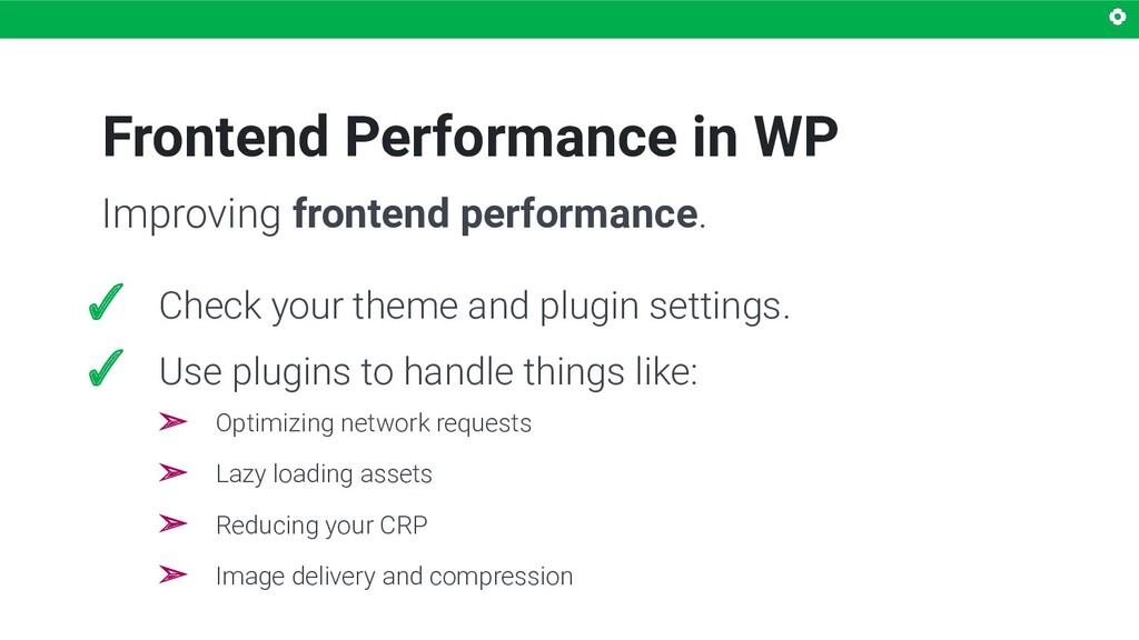 Frontend Performance in WP ✓ Check your theme a...