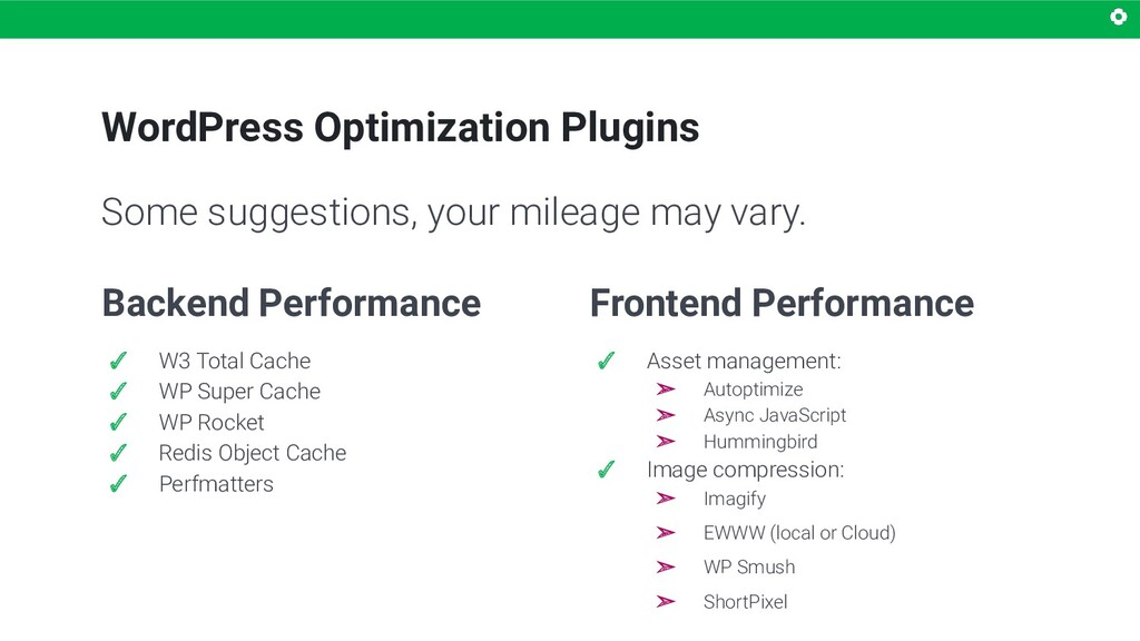 WordPress Optimization Plugins Backend Performa...