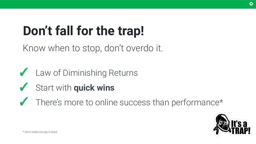 Don't fall for the trap! ✓ Law of Diminishing R...